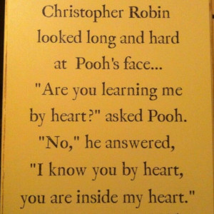 Pooh has some of the sweetest quoted I had never knew about :)
