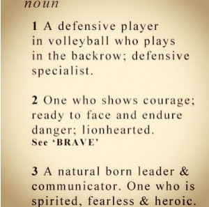 Volleyball Libero Sayings Libero. best position in volleyball # ...