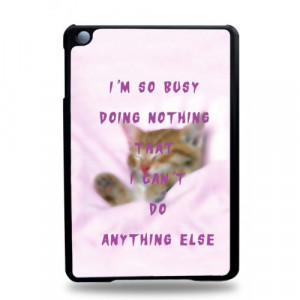 Home » Get Busy Quotes iPad Mini Case - Hard Plastic Tablet Case