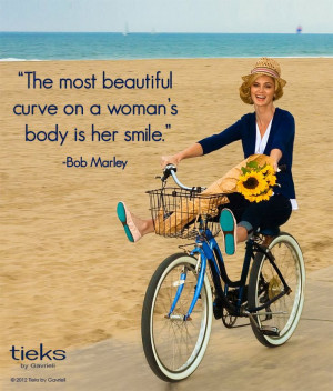 the most beautiful curve on a woman's body is her smile