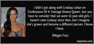 didn't get along with Lindsay Lohan on 'Confessions Of A Teenage ...