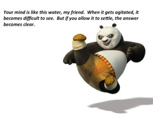 Kung Fu Panda wisdom