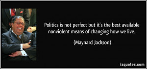 More Maynard Jackson Quotes