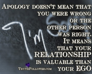 Apologizing Quote & Sayings