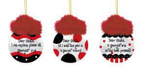 Georgia Bulldogs Team Sayings Tree Ornaments