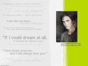 Twilight Series Edward Quotes