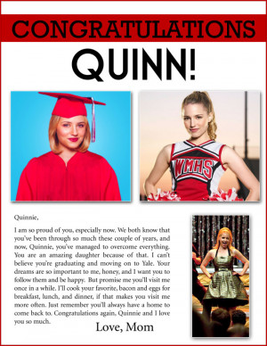 Glee Rachel Berry Quotes. Funny Graduation Quotes For Parents . View ...