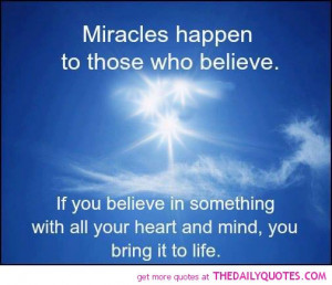 Miracle Quotes About Life
