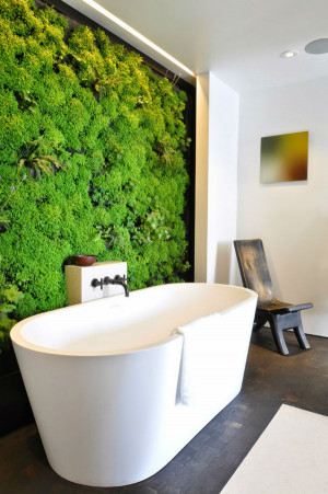 Green wall design and vertical gardens are one of the trends for ...