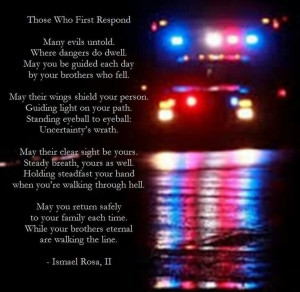 First Responder's Prayer.