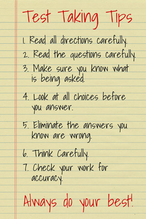 Test Taking Tips, Classroom Motivational Poster contemporary-prints ...