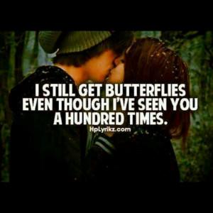 Still get butterflies