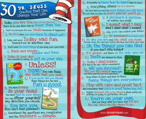 30 dr seuss quotes to change your life poster