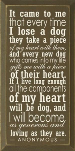My heart will be dog