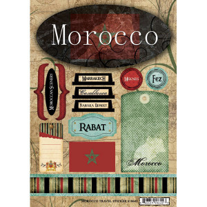 Scrapbook Customs - World Collection - Morocco - Cardstock Stickers ...