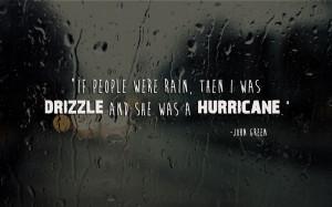 were rain…