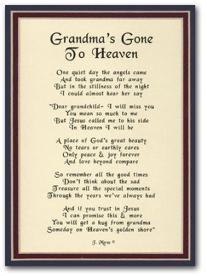 ... for grandma Happy Birthday Poems For Grandma. rip poems for grandma