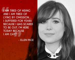 Ellen Page came out publicly at a Human Rights Campaign conference in ...