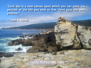 ... of the life you wish to live paint your life with purpose josh s hinds