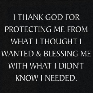 God's protection & blessing