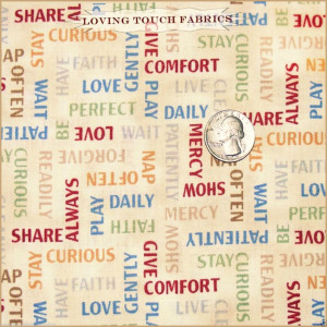 ... RED ROOSTER FRIENDSHIP SAYINGS WORDS LOVE FAITH FABRIC FQ 18