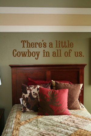 Little Cowboy Wall quote #Home