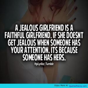 Jealous Girlfriend Faithful