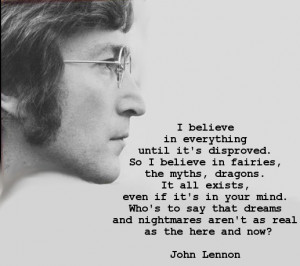 Great John Lennon quote.