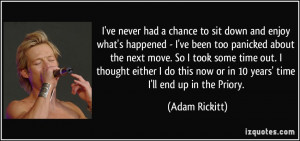 More Adam Rickitt Quotes