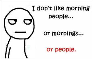 don t like morning people or mornings or people