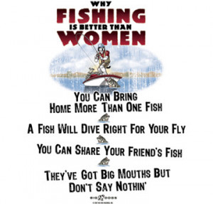 Fishing Quotes For Women Men often view women as a