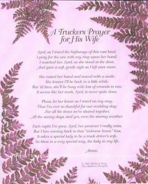Trucker's prayer for his wife