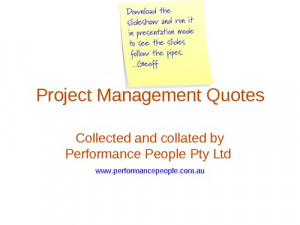 Project Management Quotes Pipe screenshot