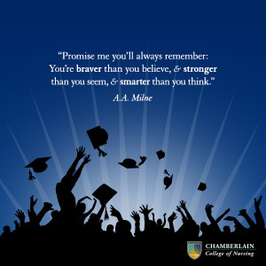 graduation quote a.a. milne Promise me you'll always remember: you're ...