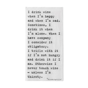 original i drink wine quote napkins jpg