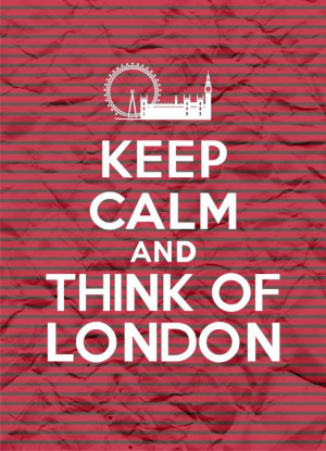 Keep Calm and Think of London - Stripes - 8x11 - Digital Printable ...