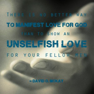 quote explaining that love for god is unselfish love with Christ's ...