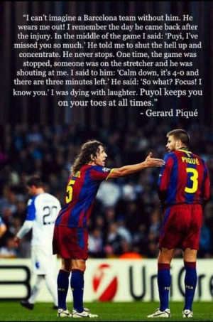 Puyol Pique lol I freaking love this