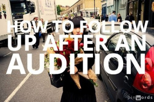 Should You Follow Up with a Casting Director After an Audition? What ...