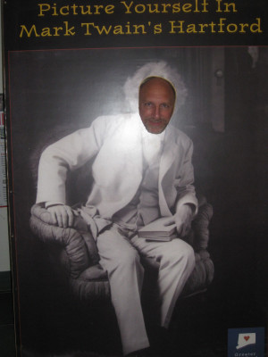 So what do you think? Does my hubby look good in Mark Twain hair?