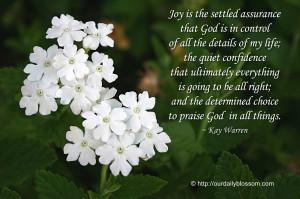 Spiritual Quote – Kay Warren