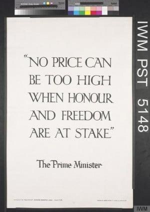 British First World War recruiting poster No Price Can be Too High ...