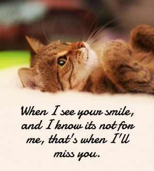 Missing your Smile, Please come back again in my life