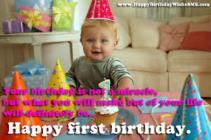 1st Birthday Wishes – Happy Birthday Quotes for Cute Baby Messages ...