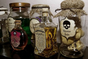 Halloween / potion bottles