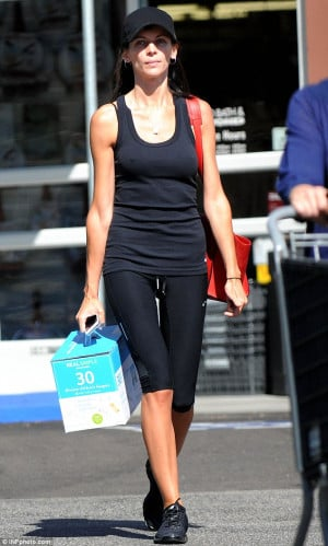 woman scorned: Liberty Ross looked sombre in her all black ensemble ...
