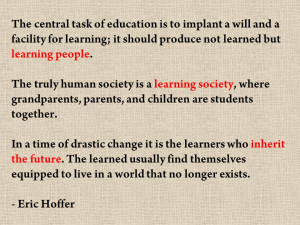 To me, this quote says so much about the importance of students ...