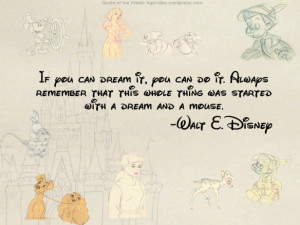 , disney, dreams, love, mickey mouse, mouse, peter pan, quote ...