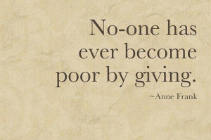 Freely you have received ; freely give.