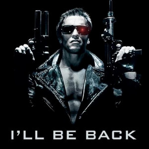Arnold is back as the Terminator, Trench Mauser, Conan the barbarian ...